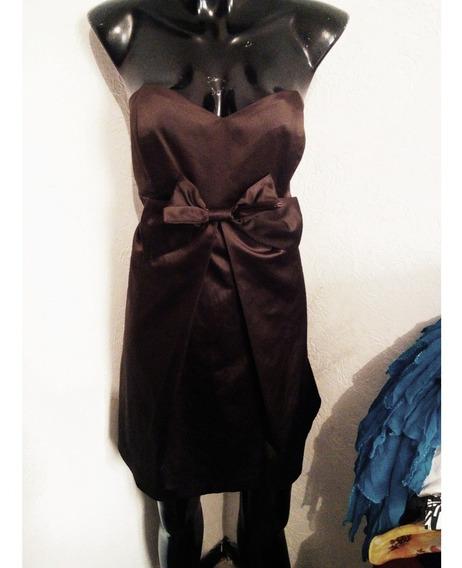 Vestido Satinado Cafe Talla 3 Lob