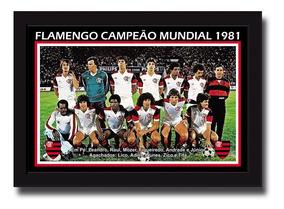 Poster Personalizado 20x30 Cm Flamengo Campeão 1981