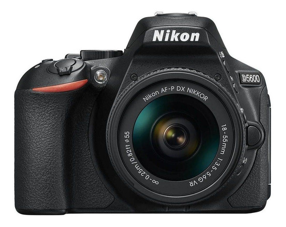 Nikon D5600 18-55mm VR Kit DSLR color negro