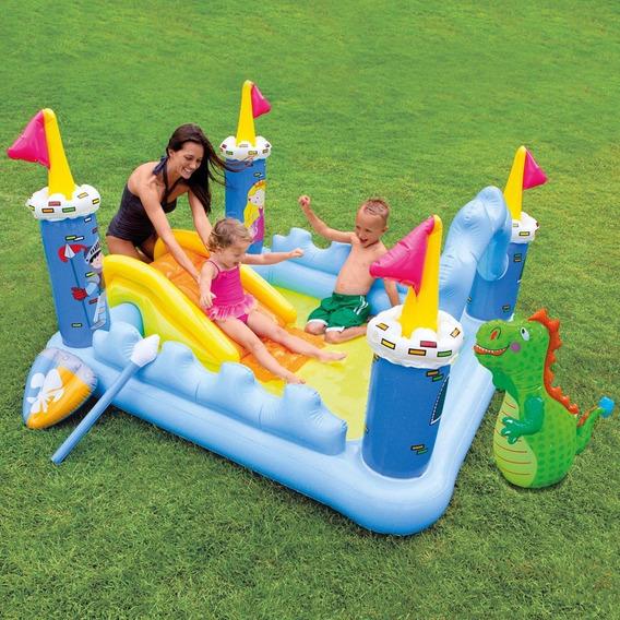 Piscina Playground Inflável Castelo Da Fantasia 178l Intex