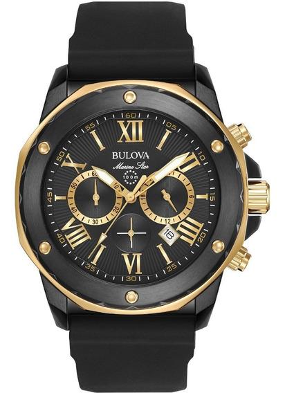 Reloj Bulova Marine Star Para Hombre Original Crono 98b278