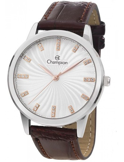 Relógio Feminino Champion Pulseira D Couro Cn28286q - Oferta