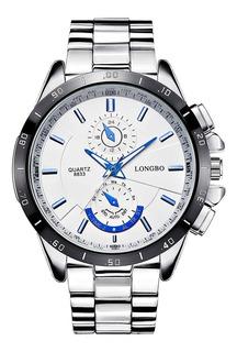 Relógio Longbo Marca Novo Moda Branco