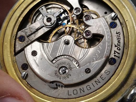 Reloj De Bolsillo Ferrocarrilero Longines Grand Prix 1889