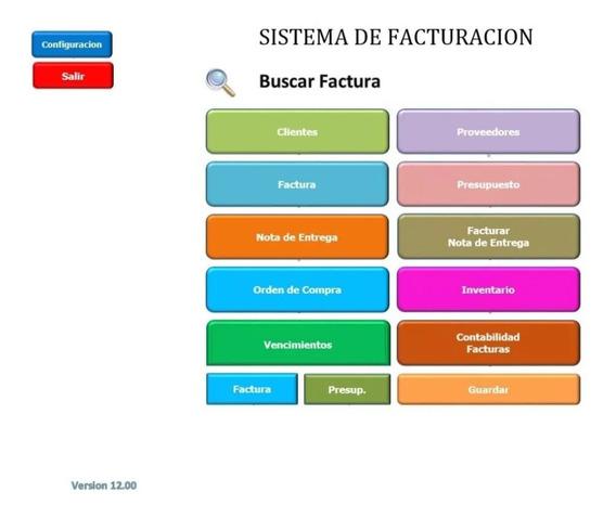 Sistema De Facturación_v12.00 En Excel Con Su Manual
