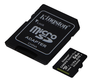 Memoria Microsd Kingston 64gb Clase 10 A1 100mb/s Micro Sd