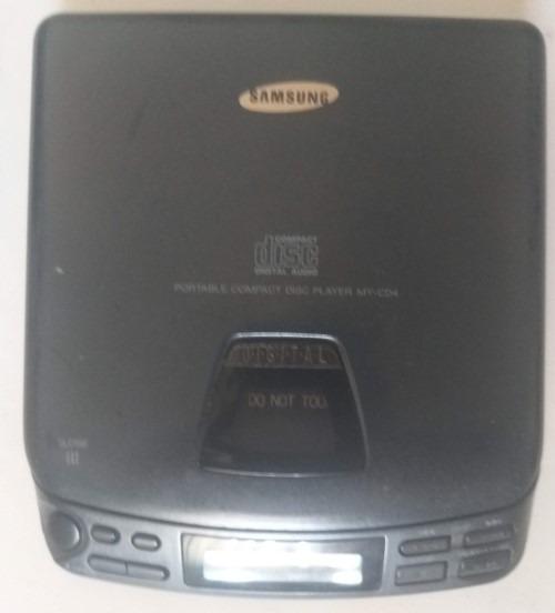 Discman Samsung My-cd4 Cd Player Ligando Porem Não Lê Cd