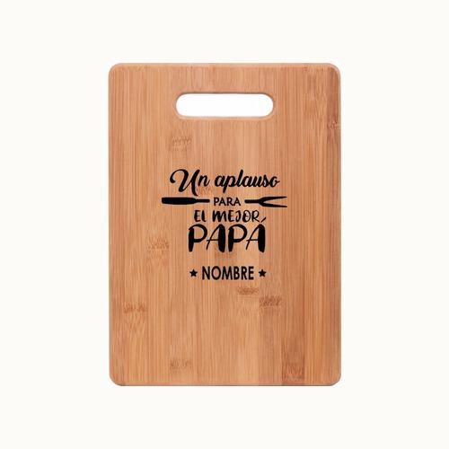Tabla Bambú Con Diseño (regalo Día Del Padre)