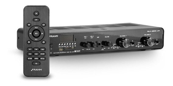 Amplificador Multi Channel 80w Receiver Frahm Slim 2500 Usb