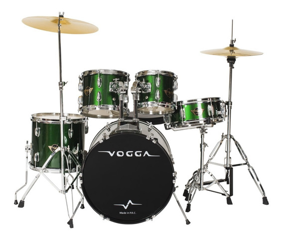 Bateria Acústica Bumbo 22 Pol Talent Vpd924 Verde - Vogga
