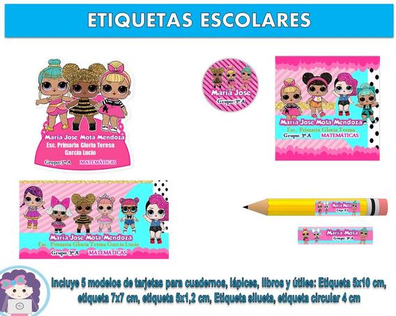 Kit Imprimible Etiquetas Escolares Lol