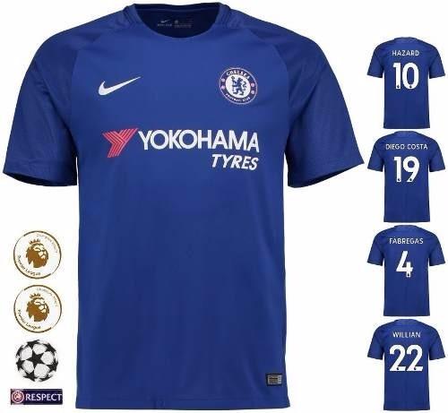 f591beac6a3f0 Camisa Chelsea Azul Home - Uniforme 1 - 17/18 - Frete Grátis - R ...