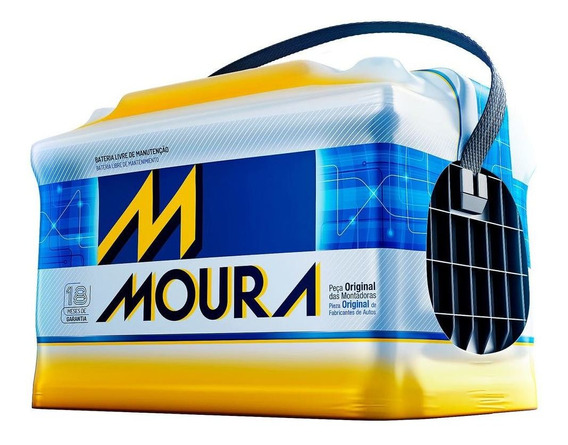 Bateria Moura 60ah Cca 400ah M60gd 18 Meses De Garantia