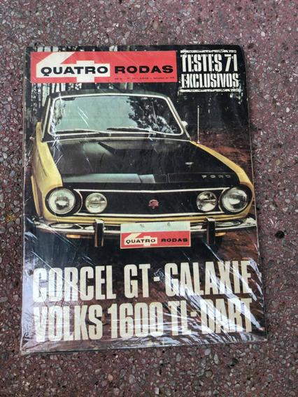 Quatro Rodas 124 Dodge Dart Galaxie Corcel Gt Novembro 1970