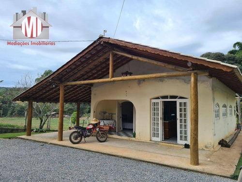 Imagem 1 de 30 de Linda Chácara Com 02 Dormitórios, Terreno Plano, Bosque, Córrego, Pomar, Horta, À Venda, 2000 M² Por R$ 320.000 - Rural - Socorro/sp - Ch0958