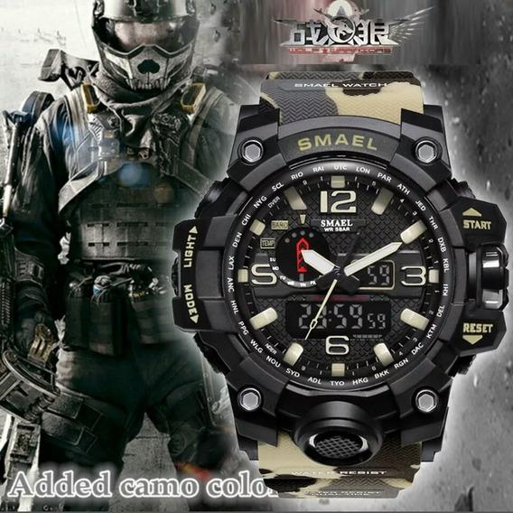 Relógio Esportes Militar Digital Led Pulso Camuflado Oferta