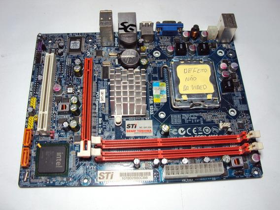 Placa Mae Sti Mod. G41t-m7 -15-r60-011002 Ddr3 775 C/defeito