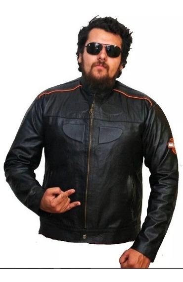 Jaqueta De Couro Masculina Couro Legitimo Animal Harley