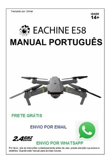 Manual Drone Eachine E58 Jy019 Em Português Por E-mail Whats