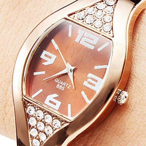 Relógio Feminino Quartzo De Cristal / Relógio Diamante