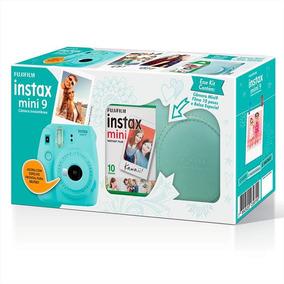 Kit Câmera Instantânea Fujifilm Instax Mini 9 Azul Aqua +