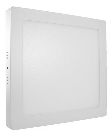 Kit 4 Plafon Sobrepor Quadrado Led 18w Painel Bivolt 22x22