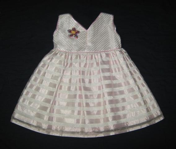 Lindo Vestido Blanco Y Rosado Para Niña Talla 4