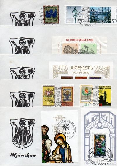 Lote 6 Sobres Postales Estampillas Sellos Alemania Munich 79