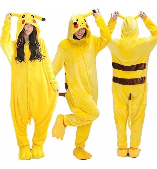 Pijama Pikashu Pokemon Kigurumi Unicórnio Sob Encomenda