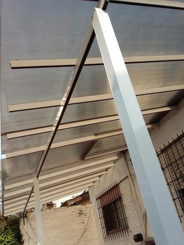 Techo Fijo En Policarbonato Con Estructura De Aluminio X M2