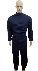 Macacão Manga Longa Gola Padre Em Jeans