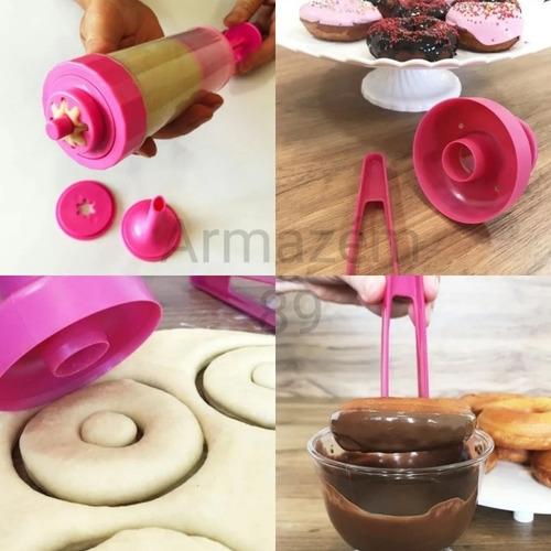 Maquina Manual Fazer Churros + Modela Faz Donuts Kit Delicia