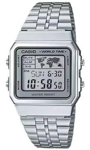 Relogio Casio Retro A500wa-7df A500 Prata Nf-e Original