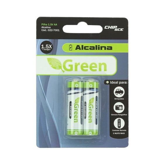 Pilha Alcalina Aa 1.5v | Green 022-7001 | Chipsce