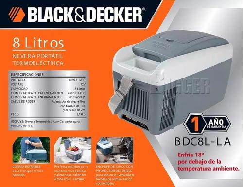 Imagen 1 de 2 de Heladera Black And Decker 12v 8 Litros