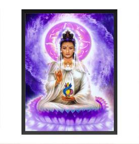 Poster Quadro Com Vidro Deusa Kuan Yin - A3 Emoldurado