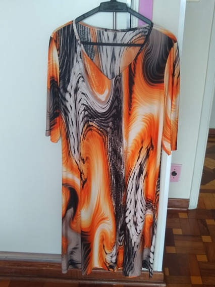 Vestido De Festa Estampado - Roupa Feminina