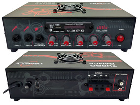Amplificador Som Ambiente 300wrms Bluetooth Igreja Casa Loja