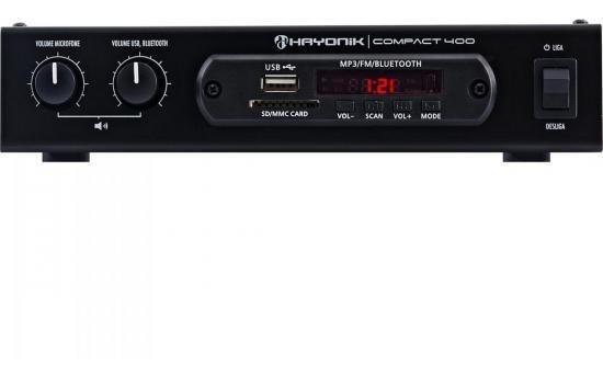 Amplificador 40w Com Bluetooth Compact 400 Preto Hayonik Nf