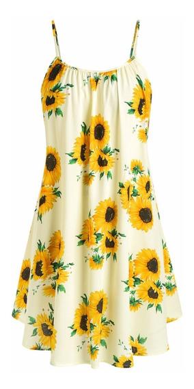 Vestido Casual Impreso De Tamaño Extra Para Dama L-5xl