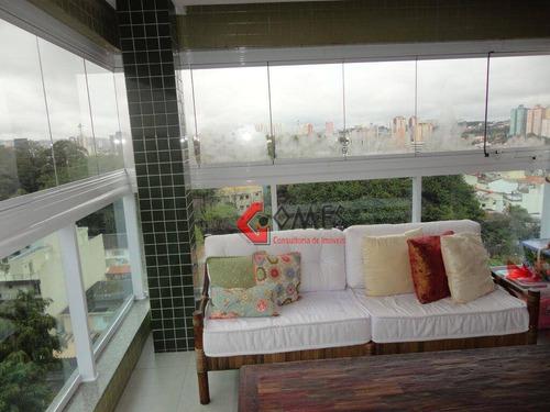 Apartamento Com 3 Dormitórios À Venda, 148 M² Por R$ 1.100.000 - Jardim Do Mar - São Bernardo Do Campo/sp - Ap0899