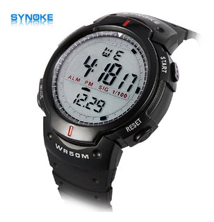 Synoke Reloj Deportivo Hombre Sport Digital Negro
