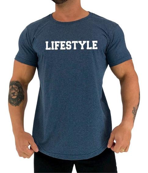 Camiseta Long Line Mxd Conceito Lifestyle Estilo De Vida Gym