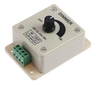 Dimmer Controlador Para Tira De Leds 12 A 24v 8a Ideal Crear Ambientes Y Atmosferas Unicas Con Tus Tiras De Leds