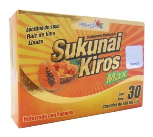 Sukunai Kiros Max 30 Capsulas. +efectivo