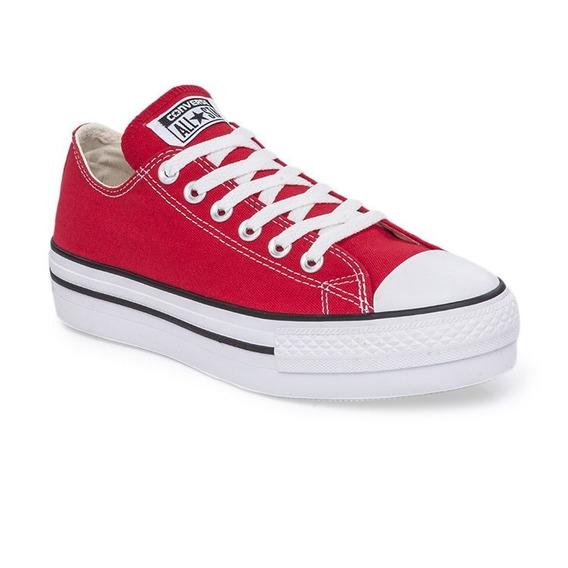 Zapatillas Converse All Star Plataforma Rojo Exclusiva Dama