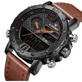 Relógio Masculino Esportivo Militar Naviforce Marrom