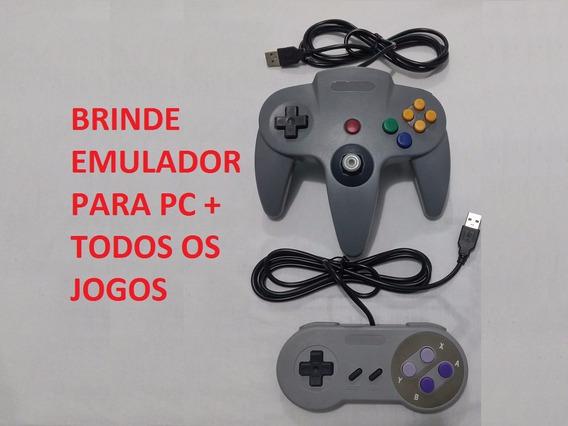 Controle N64 Nintendo 64 Super Nintendo Snes Usb Pc Emulador