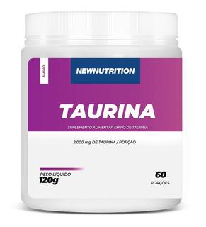 Taurina Em Pó 120g Rende 60 Porções Newnutrition