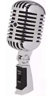 Microfono Vintage Retro Stagg Sdmp40 Cr Vintage 50s T/shure